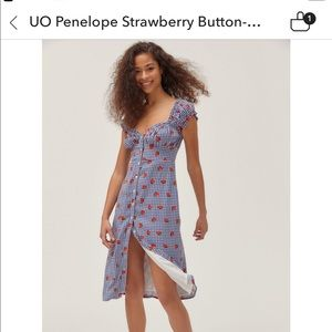 Urban Outfitters Strawberry Dress